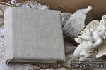 Альбом от Светланы Ковтун в класс. переплете с тканевым покрытием, лен светло-серый, 15х15 см, 5 разворотов, расст. 7 мм - ScrapUA.com