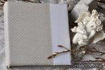 Альбом от Светланы Ковтун в класс. переплете с ткан. покрытием, лен комбинир. верт. серый гор. и белый, 20х20 см, 5 разворотов, расст. 7 мм - ScrapUA.com