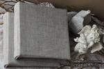 Альбом от Светланы Ковтун в классическом переплете с тканевым покрытием, лен серый, 20х20 см, 5 разворотов, расст. 7 мм - ScrapUA.com