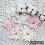 Набор цветов TM Iris - Cortez Pink and white, 9 шт - ScrapUA.com
