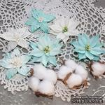 Набор цветов TM Iris - Cortez Blue and white, 9 шт - ScrapUA.com