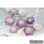 Набор цветов TM Iris - Dessert оттенки сиреневого, 35-45 мм, 8 шт - ScrapUA.com