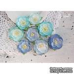 Набор цветов TM Iris - Dessert оттенки синего, 35-45 мм, 8 шт - ScrapUA.com