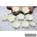 Набор цветов TM Iris - Dessert Нежный белый, 25-45 мм, 10 шт - ScrapUA.com