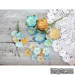 Набор цветов TM Iris - First Love песочно-голубой микс, 25-40 мм, 21 шт - ScrapUA.com