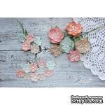 Набор цветов TM Iris - First Love персик-мята, 25-40 мм, 21 шт - ScrapUA.com