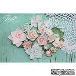 Набор цветов TM Iris - Lady Rosemary Мята и персик, 20 шт - ScrapUA.com