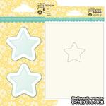 Набор для шейкера JBS - Star - Звезда - окошко-заготовка, открытка, конверт - 1 штука - ScrapUA.com