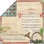 Лист скрапбумаги My Mind's Eye - Joyous - Carols, 30х30 см, двусторонняя - ScrapUA.com