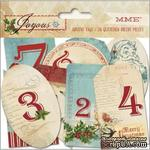 Высечки из кардстока My Mind's Eye - Joyous - Advent Tags, 26 штук - ScrapUA.com