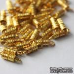 Застежка для бус на резьбе, цвет золото, 14 мм, 1 шт. - ScrapUA.com