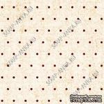 Скрапбумага для форзацев Коллекция 13_26., Горошки коричневые на бежевом, односторонняя, 20х29 см - ScrapUA.com