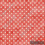 Скрапбумага для форзацев Коллекция 16_03., Горошки на ярко-красном, односторонняя, 20х29 см - ScrapUA.com