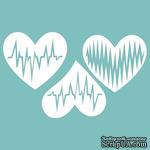 Чипборд от Вензелик - Набор сердечек 06, размер: 68*104 мм - ScrapUA.com