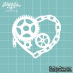 Чипборд от Вензелик - Сердце стимпанк 03, размер: 5,3 x 6 см - ScrapUA.com