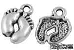 """Металлическое украшение """"Ножки"""", античное серебро, размер 14х10 мм, 1 шт - ScrapUA.com"""
