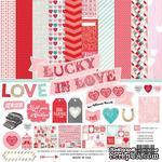 Набор бумаги от Echo Park - Lucky In Love , 12+2 листа, 30х30 см - ScrapUA.com