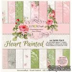 Набор скрапбумаги LemonCraft - Heart Painted, 15х15 см - ScrapUA.com