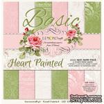 Набор скрапбумаги LemonCraft - Heart Painted Basic, фоновые дизайны, 30х30 см, с бонусом - ScrapUA.com