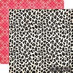 Лист скрапбумаги от Echo Park - Leopard Print Paper - двусторонняя, 30х30 см - ScrapUA.com