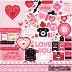 Лист наклеек от Echo Park - Love Story Element Stickers, 30х30 см - ScrapUA.com
