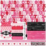 Лист наклеек - алфавит от Echo Park - Love Story Element Stickers, 30х30 см - ScrapUA.com