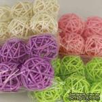 Декоративный круглый шарик, ротанг, маленький, диаметр 3 см, 1 шт. - ScrapUA.com