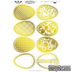 Высечки Lesia Zgharda - Золотая коллекция - Яйца пасхальные, 9 штук - ScrapUA.com