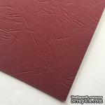 Картон с тиснением под кожу, цвет бордовый, 300гр/м2, 30х30см - ScrapUA.com