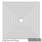 Лезвие My Favorite Things - Die-namics Inside and Out Stitched Square STAX, 7 шт. - ScrapUA.com