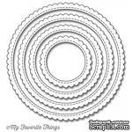 Лезвие My Favorite Things - Die-namics Stitched Circle Scallop Edge Frames, 4 шт. - ScrapUA.com