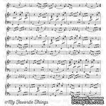 Резиновый штамп My Favorite Things - BG Sheet Music Background - ScrapUA.com