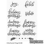 Акриловый штамп My Favorite Things - Hand-Lettered Holiday Greetings - ScrapUA.com