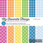 Набор бумаги My Favorite Things - Farm Fresh Gingham Paper Pack, размер 15х15 см, 24 листа. - ScrapUA.com