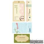 СКИДКА 40%! Набор тэгов из ткани Making Memories - WellWorn Tags Passport - ScrapUA.com