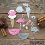 "Набор ножей для вырубки от MiMiCut - ""Лето розового цвета"", 77х78мм - ScrapUA.com"
