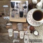 """Набор штампов и ножей для вырубки от  MiMiCut -  """"Кофе с собой"""", 37x52 мм - ScrapUA.com"""