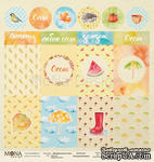 Лист односторонней скрапбумаги от Mona Design - Лист карточек Акварельная осень, 30,5х30,5 см - ScrapUA.com