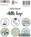 Набор фишек от Mona Design — Little boy, 6 шт - ScrapUA.com