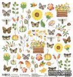 Лист для вырезания от Mona Design — Осенняя история, 30,5х30,5см - ScrapUA.com