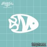 Чипборд от Вензелик - Рыбка 2, размер: 2,8 x 4,5 см - ScrapUA.com
