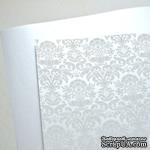 Лист дизайнерской бумаги с рисунком Роскошно 2, цвет Жемчуг, А4 - ScrapUA.com