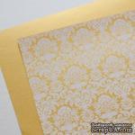 Лист дизайнерской бумаги с рисунком Роскошно 2, цвет Золото, А4 - ScrapUA.com