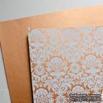 Лист дизайнерской бумаги с рисунком Роскошно 2, цвет Медь, А4 - ScrapUA.com