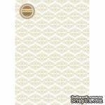 Лист дизайнерской бумаги с рисунком Легко - Вензель шашечка, А4 - ScrapUA.com