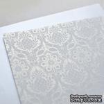 Лист дизайнерской бумаги с рисунком Роскошно 1, цвет Жемчуг, А4 - ScrapUA.com