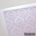 Лист дизайнерской бумаги с рисунком Роскошно 2, цвет Сирень, А4 - ScrapUA.com