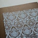 Лист дизайнерской бумаги с рисунком Роскошно 1, цвет Шоколад, А4 - ScrapUA.com