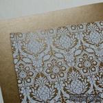 Лист дизайнерской бумаги с рисунком Роскошно 1, цвет Бронза, А4 - ScrapUA.com