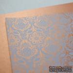 Лист дизайнерской бумаги с рисунком Роскошно 1, цвет Медь, А4 - ScrapUA.com